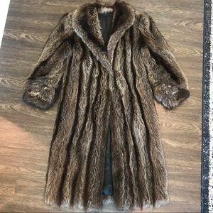 Jackets & Blazers - Vintage Raccoon Fur Coat